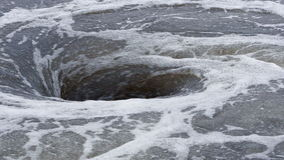 View of natural whirlpool in water stock video footage