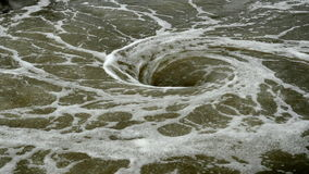View of natural whirlpool in water stock video