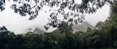 Aguas Calientes in Peru. View at nature at Aguas Calientes in Peru stock images