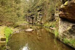 View of nature in Bohemian Switzerland. Jetrichovice- Czech Republic Royalty Free Stock Image
