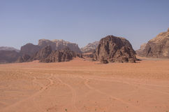View of Nature, desert and rocks of Wadi Rum (Valley of the Moon Stock Photography