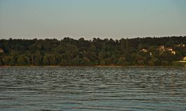 View on nature on other side of river Danube.  royalty free stock images