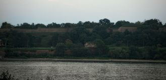 View on nature on other side of river Danube.  stock photos