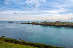 View at the nature in Pointe du Grouin Royalty Free Stock Images