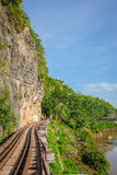 View of nature and Railroad tracks Stock Images