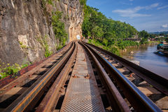 View of nature and Railroad tracks Royalty Free Stock Photography