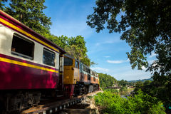 View of nature and Railroad tracks in Thailand Stock Photo