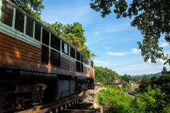 View of nature and Railroad tracks in Thailand Royalty Free Stock Image