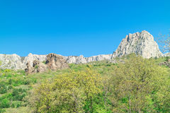 View of the nature of the south of the Crimea. Mountains. View of the nature of the south of the Crimea royalty free stock image