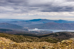 View from Navafria. Summit, called El Nevero. Between Madrid and Segovia. Spain Stock Image