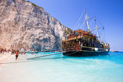 View of Navagio (Shipwreck) Beach in Zakynthos, Navagio Beach is Stock Photo
