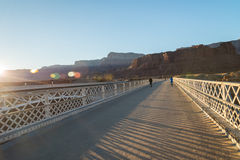 View on the Navajo bridge in Arizona USA with Sun flare burst. 1 Stock Images