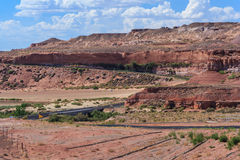 View of Navajo and Hopi Nation Reservations in Arizona USA Stock Images