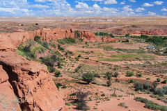 View of Navajo and Hopi Nation Reservations in Arizona USA Royalty Free Stock Photography