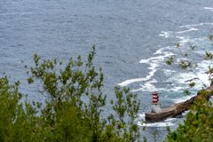 View on a navigational light royalty free stock photos