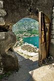View of Navy Pier of the old town of Kotor Stock Photo