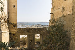 View of Naxos town from old castle Stock Photography