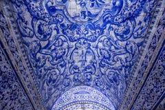 Church of Nossa Senhora da Nazare, Portugal. A view in NAZARE, PORTUGAL, JUNE, 20, 2017 : architectural details of Church of Nossa Senhora da Nazare, june 20 royalty free stock photos