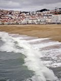 View on Nazare, Portugal. royalty free stock photo