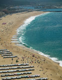 View of nazare village. View of nazare south beach Stock Photography