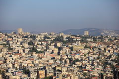 View of Nazareth from the Basilica of Jesus Royalty Free Stock Image