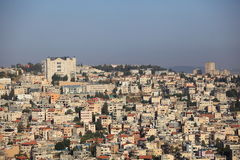 View of Nazareth from the Salesian Church Stock Photography