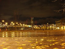 2005 view of NE Grand Avenue. Shows night view of NE Grand Avenue Portland, OR in 2005 Royalty Free Stock Image