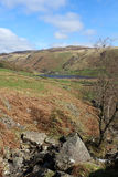 View NE to Watendlath Tarn and High Seat, Cumbria Royalty Free Stock Photos