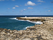 View Near Devils Bridge on Antigua Barbuda Royalty Free Stock Image