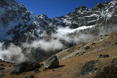 View near Dzonglha. Dzonglha (4830 m) - the village in the Himalayas. Nepal 2008 Stock Photo