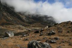 View near Dzonglha. Dzonglha (4830 m) - the village in the Himalayas. Nepal 2008 Royalty Free Stock Photos