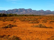 Flinders Ranges. View near Hawker in the South Australian Flinders Ranges stock photography