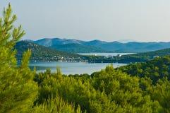View of the near of Jezera on Murter island Croatia Royalty Free Stock Photography