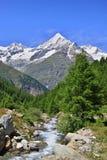View  near the Matterhorn in Swiss Stock Photography