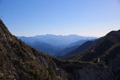 View near Mount Wilson, Southern California. From Mount Wilson to Mount Lowe, San Gabriel, Angeles National Forest, Southern California Stock Photos