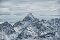 View from the Nebelhorn mountain, Bavarian Alps, Oberstdorf, Ge Royalty Free Stock Photography