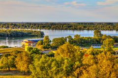Sava and danube Royalty Free Stock Photo