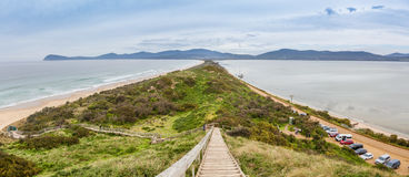 View of The Neck from lookout. Bruny Island, Tasmania. Stock Image