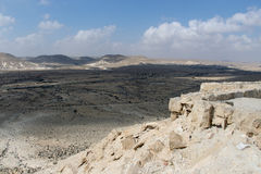 View on Negev desert from nation park Ein Avdat. Israel Royalty Free Stock Images