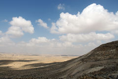 View on Negev desert from nation park Ein Avdat. Israel Stock Photography