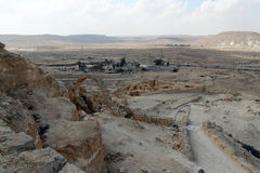 View on Negev desert from nation park Ein Avdat. Israel Royalty Free Stock Photography