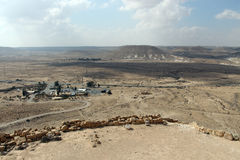 View on Negev desert from nation park Ein Avdat. Israel Royalty Free Stock Image