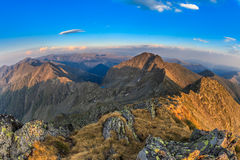 The Negoiu Peak. Fagaras Mountains, Romania Stock Photos