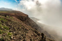 View on the neighboring isle from Lanzarote, Canary Isles Royalty Free Stock Photography