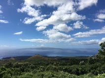 View of neighboring Kaho'olawe. Royalty Free Stock Photo