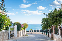 View of a neighbourhood close to the sea in Malaga Royalty Free Stock Photos