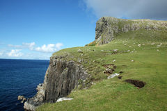 View of Neist Point and rocky ocean coastline Stock Photo