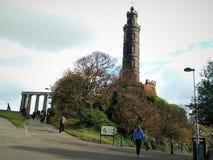 Nelson Monument on Calton Hill, Edinburgh. stock photography