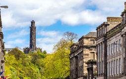 View of Nelson's Monument on Calton Hill Royalty Free Stock Images