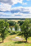 View Neman from the territory of the church.  Liskiava. Lithuania Stock Image